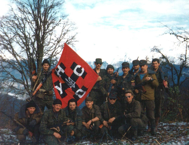 Отряд УНА-УНСО на Северном Кавказе, 1993 год. Фото: warriors.wikia.com