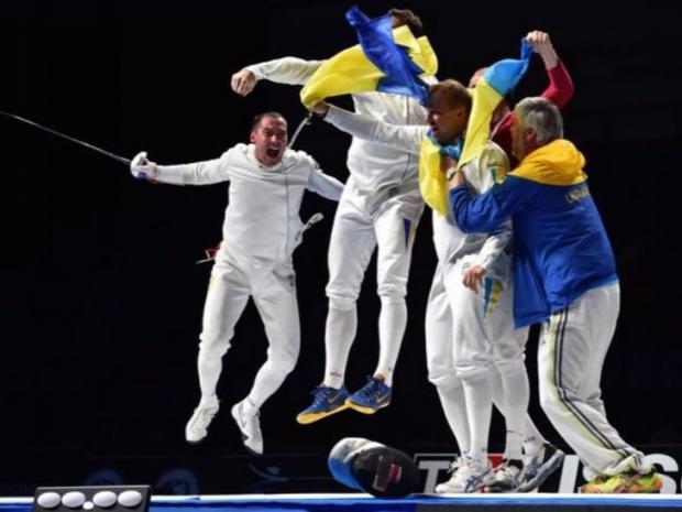 """Українські шпажисти сенсаційно """"розгромили"""" Росію в 1/4 фіналу. Фото: ВВС."""