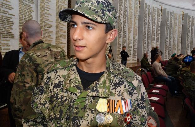 "А цей киянин - ""герой Донбасу"" для терористів. Фото: сайт ""Верное Казачество"""