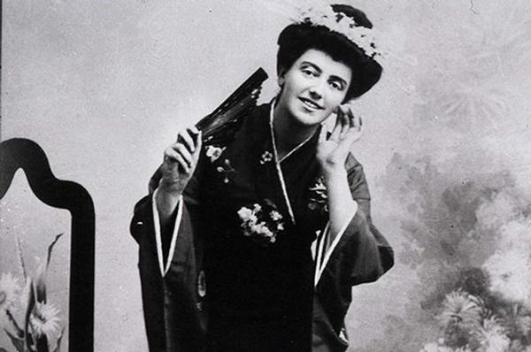 """Соломія Крушельницька у ролі Чіо-Чіо-Сан з опери Дж. Пуччіні """"Мадам Баттерфляй"""""""