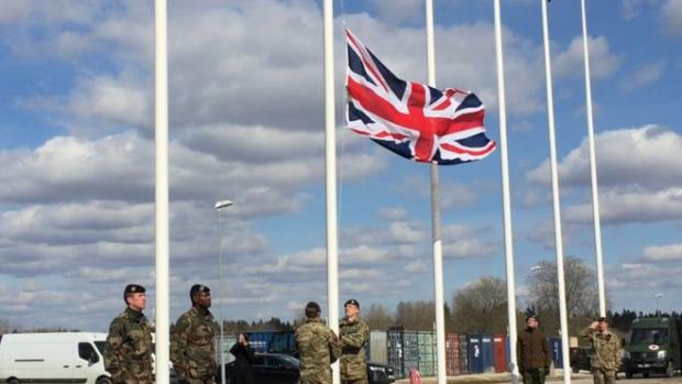 Британський батальйон сил НАТО прибув до Естонії. Фото:http://www.bbc.com/russian/