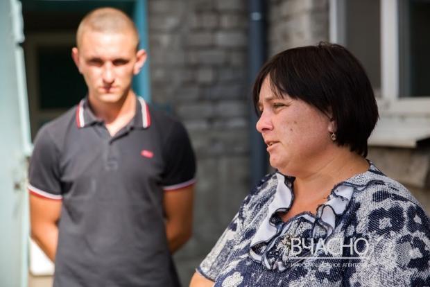 Оксана Голубенко з сином Михайлом