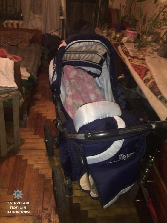 Постраждала дитина нині у важкому стані. Фото: Патрульна поліція Запоріжжя