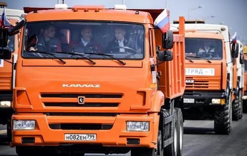 Путін на Кримському мості. Фото: соцмережі.