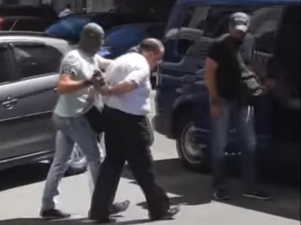 Затримання замовника вбивства журналіста Бабченка. Фото:скрін відео