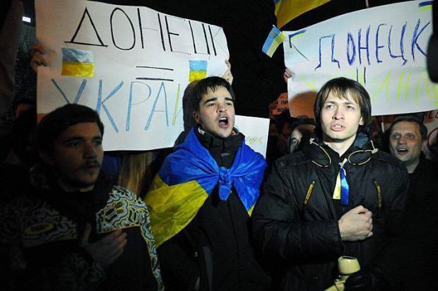 Проукраїнський мітинг у Донецьку, весна 2014 року. Фото: Facebook