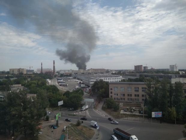 Пожежа на заводі у Ростові. Фото: соцмережі.