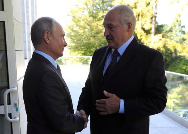 Путін і Лукашенко. Фото: Твіттер.