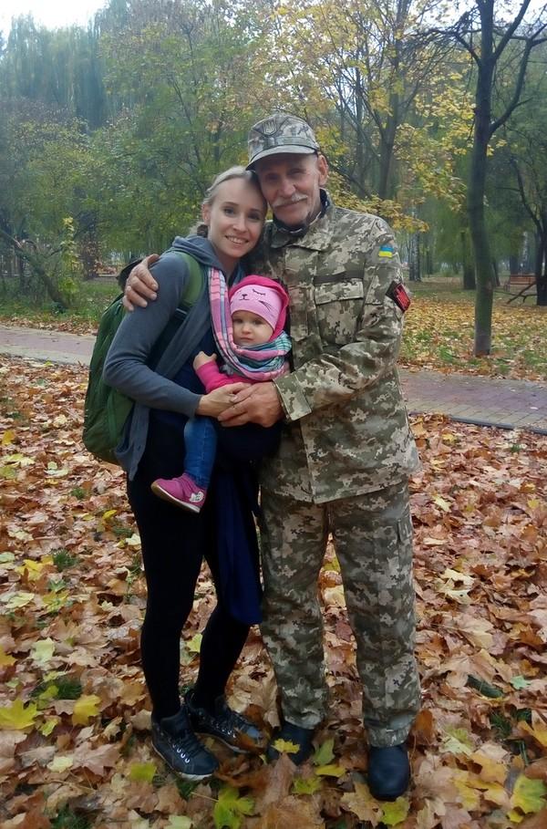 з дочкою Яриною і онучкою Михайлиною
