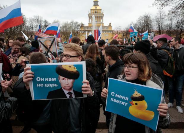 Путін не подобається все більшій кількості росіян. Фото: Рейтерс.