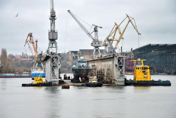 У Миколаєві спустили на воду ракетний катер. Фото: Фейсбук.