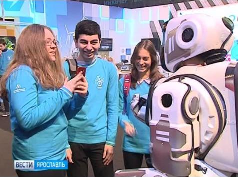 У Росії намагалися видати аніматора за робота. Фото: скріншот з відео.