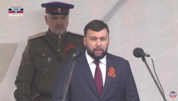 """Пушилін у Донецьку на параді. Фото: """"Новости Донбасса""""."""