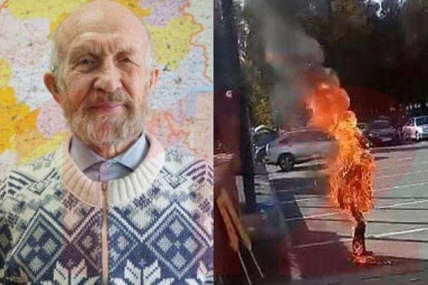 Альберт Разін спалив себе на знак протесту проти русифікації. Фото: соцмережі.