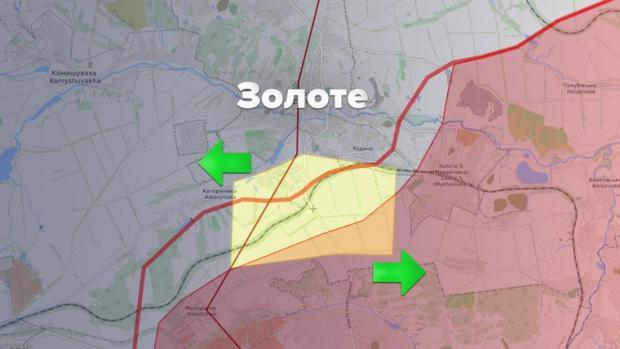 На карті позначено три райони, де мало відбутися розведення військ на Донбасі
