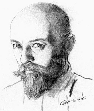 В подполье художника Нила Хасевича очень ценили и берегли. Автопортрет.