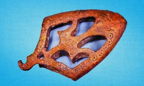 Артефакт, знайдений на Чернігівщині. Фото: соцмережі.