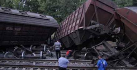 В Ростовській області вибухнув вагон із чавуном. Фото: соцмережі.