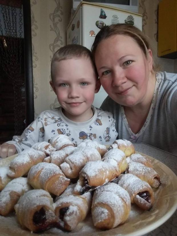 Кирилко з мамою