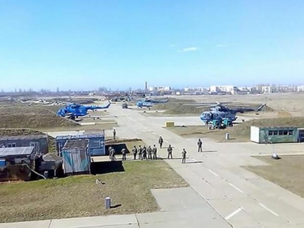 В Крыму, кроме флота, дислоцировались подразделения Военно-Воздушных Сил и части ПВО Украины
