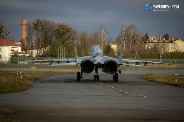 Винищувач МіГ-29 ПС ЗСУ з бортовим номером 47. Грудень 2020. Фото: «Укроборонпром»
