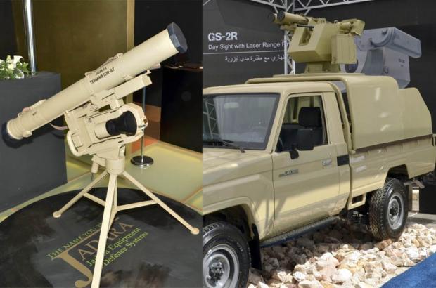 ПТРК Jadara Terminator ATGW та мобільна версія протитанкового комплексу с двозарядним бойовим модулем Twin Jadara Terminator Фото: Patrick Allen