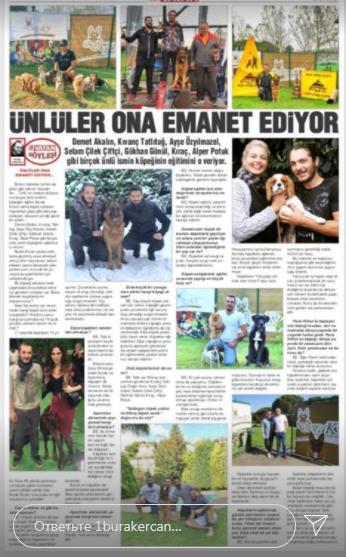 У турецькій пресі про нього писали як про зіркового тренера тварин відомих особистостей